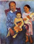 paul gauguin tahitian woman and two children painting