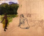 paul gauguin tahitians at rest unfinished paintings