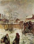 winter acrylic paintings - the garden in winter rue carcel by paul gauguin