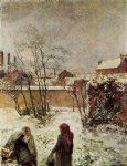 paul gauguin the garden in winter rue carcel painting 27515