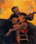 paul gauguin the guitar player oil paintings