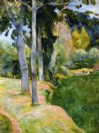 paul gauguin the large trees painting-27520
