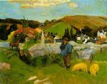 paul gauguin the swineherd brittany paintings