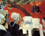 paul gauguin acrylic paintings - the vision after the sermon by paul gauguin