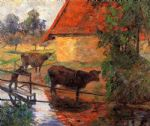 watering place by paul gauguin painting