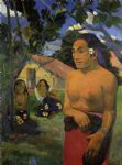 where are you going 2 by paul gauguin painting