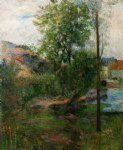 paul gauguin willow by the aven painting