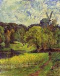 paul gauguin windmil ostervold park painting