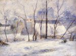 paul gauguin winter landscape effect of snow paintings