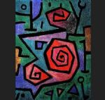 paul klee famous paintings - heroic roses 2 by paul klee