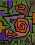 paul klee famous paintings - heroic roses by paul klee