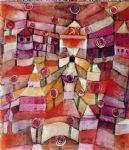 the rose garden by paul klee painting