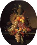 paul lacroix still life with fruit painting