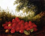 paul lacroix strawberries in a landscape painting