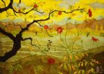 paul ranson original paintings - apple tree with red fruit by paul ranson