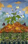 paul ranson original paintings - arums and purple and yellow irises by paul ranson