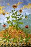 paul ranson four decorative panels sunflowers and poppies paintings