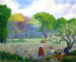 paul ranson picking flowers painting 81602
