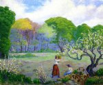 paul ranson original paintings - picking flowers by paul ranson