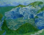 paul ranson original paintings - the blue cliffs by paul ranson