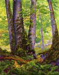 paul ranson original paintings - three beeches by paul ranson