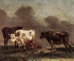 cows in a meadow by paulus potter painting