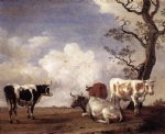 four bulls by paulus potter painting