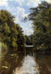 peder mork monsted famous paintings - a summer s day by peder mork monsted