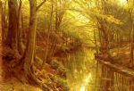 peder mork monsted famous paintings - a woodland stream by peder mork monsted