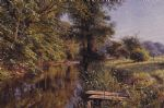 peder mork monsted famous paintings - calm waters by peder mork monsted
