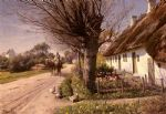 peder mork monsted famous paintings - cottages at hjornbaek by peder mork monsted
