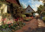 peder mork monsted famous paintings - in the garden by peder mork monsted