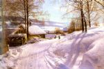 peder mork monsted famous paintings - on the snowy path by peder mork monsted