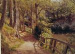 the forest path by peder mork monsted painting