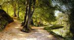 peder mork monsted famous paintings - the red umbrella by peder mork monsted