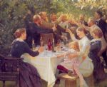 hip hip hurra by peder severin kroyer painting