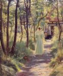 marie en el jardin by peder severin kroyer painting