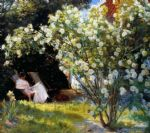 marie en el jardin i by peder severin kroyer painting