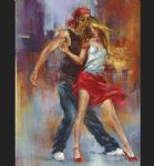 street dance by pedro alvarez painting