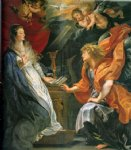 replica acrylic paintings - annunciation 2 by peter paul rubens