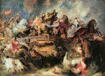 peter paul rubens battle of the amazons painting