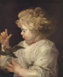 boy with bird by peter paul rubens painting