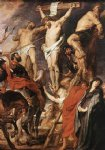 replica acrylic paintings - christ on the cross between the two thieves by peter paul rubens