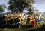 dance acrylic paintings - dance of italian villagers by peter paul rubens