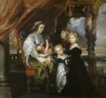 children acrylic paintings - deborah kip wife of sir balthasar gerbier and her children by peter paul rubens