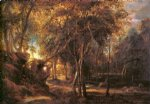 peter paul rubens forest landscape at the sunrise paintings