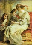 children acrylic paintings - helene fourment with her children by peter paul rubens