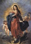 canvas oil paintings - immaculate conception by peter paul rubens