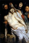 peter paul rubens lamentation christ on the straw painting