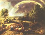 landscape acrylic paintings - landscape with a rainbow 2 by peter paul rubens